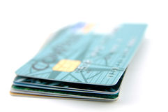 Stapel Kreditkarten Stockfotografie