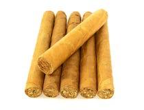 Stapel kubanische Zigarren Stockfoto