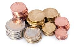 Stapel Münzen Stockfoto