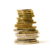 Stapel Münzen stockbild