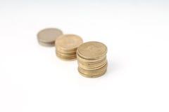 Stapel Münzen Stockfotos
