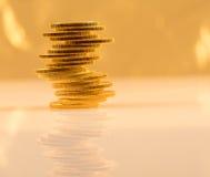 Stapel Münzen des goldenen Adlers Lizenzfreies Stockfoto