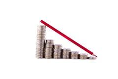 Stapel Münzen mögen Diagramm Lizenzfreie Stockfotos
