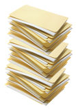 Stapel Manila-Datei-Faltblätter Stockfoto