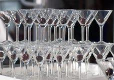 Stapel martini glazen Royalty-vrije Stock Fotografie