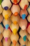 Stapel mehrfarbige Bleistifte Lizenzfreies Stockbild
