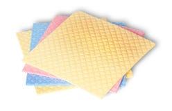 Stapel mehrfarbige Schwämme für Abwasch Lizenzfreies Stockfoto