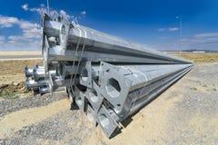Stapel Metall leitet an der Produktionsanlage-Baustelle Lizenzfreie Stockbilder