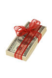 Stapel mit 100 Dollarscheinen Lizenzfreie Stockfotografie