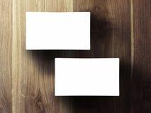 Stapel mit zwei Visitenkarten Stockfoto