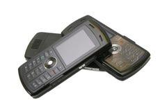 Stapel mobiele celtelefoons Stock Afbeelding
