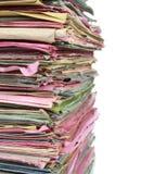 Stapel multicolored omslagen met documenten Royalty-vrije Stock Afbeeldingen
