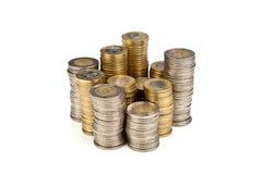 Stapel muntstukken royalty-vrije stock afbeelding