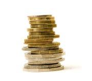 Stapel muntstukken Stock Afbeelding