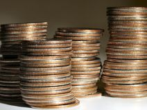 Stapel muntstukken Royalty-vrije Stock Foto