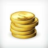 Stapel muntstukken stock illustratie