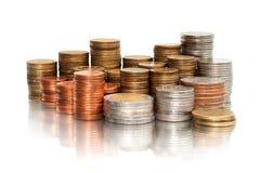 Stapel muntstukken Stock Afbeeldingen