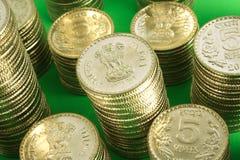 Stapel muntstukken Stock Fotografie