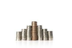 Stapel muntstukken royalty-vrije stock afbeeldingen