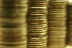 Stapel muntstukken abstracte achtergrond Stock Afbeelding