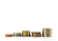 Stapel muntstukken, Thais bad Royalty-vrije Stock Afbeeldingen