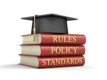 Stapel naleving en regelsboeken Royalty-vrije Stock Afbeeldingen