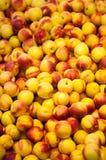 Stapel Nectarines Royalty-vrije Stock Fotografie