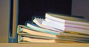 Stapel Notizbücher Stockbild
