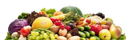 Stapel Obst und Gemüse lizenzfreie stockbilder