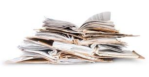 Stapel offene alte Dateien Lizenzfreies Stockbild