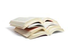 Stapel Open Boeken stock fotografie
