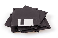 Stapel oude diskettes Stock Afbeelding