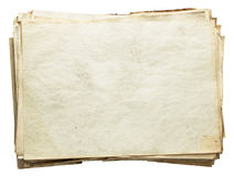 Stapel oude documenten Stock Foto's