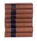 Stapel Oude uitstekende boeken Stock Afbeeldingen