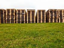 Stapel Paletten Lizenzfreies Stockfoto
