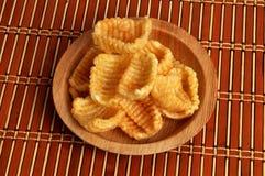 Stapel papad Chips Stockfotografie