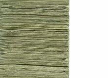 Stapel Papier-US-Bargeld Lizenzfreie Stockbilder
