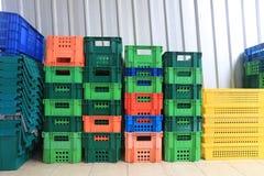 Stapel Plastic Container Stock Fotografie
