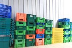 Stapel Plastic Container Stock Foto