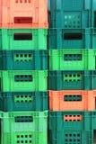 Stapel Plastic Container Royalty-vrije Stock Foto