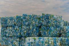 Stapel plastic HUISDIERENflessen Stock Fotografie