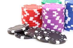 Stapel Pokerchips Stockbild