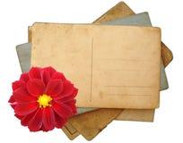 Stapel prentbriefkaaren, foto's Royalty-vrije Stock Foto's