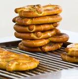 Stapel pretzels royalty-vrije stock afbeelding