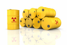 Stapel radioaktive Fässer stock abbildung