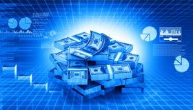 Stapel Rekeningen van de Dollar Royalty-vrije Stock Foto's