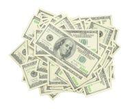 Stapel rekeningen van de V.S. $100 stock afbeeldingen