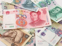 stapel renminbi royaltyfria foton