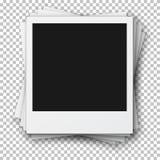 Stapel Retro- Foto-Felder gemacht in der realistischen Art Vektor eps1 Stockfoto