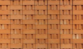 Stapel rode kleibakstenen Stock Afbeeldingen